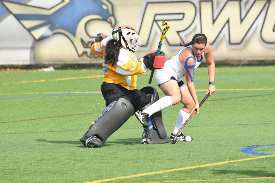 Goalie Mya Lunn has been the backbone to the field hockey team's defense for the past three seasons.