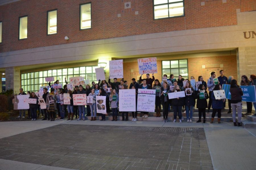 Students protest in response to visiting Columbus lecturer