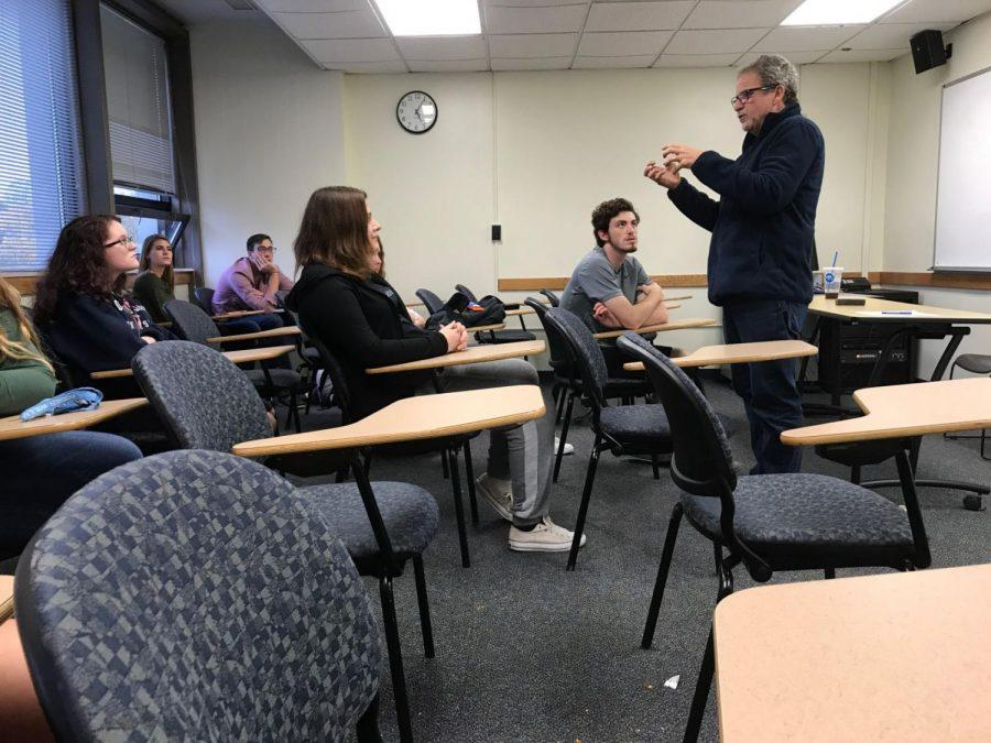 Members of the Psychology Club engaged during a meeting.