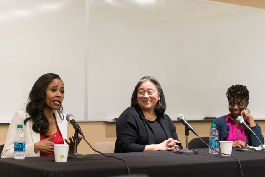 Lawrence, Tchen, and Gentles-Peart share on their own personal experiences as women of color in the workforce.