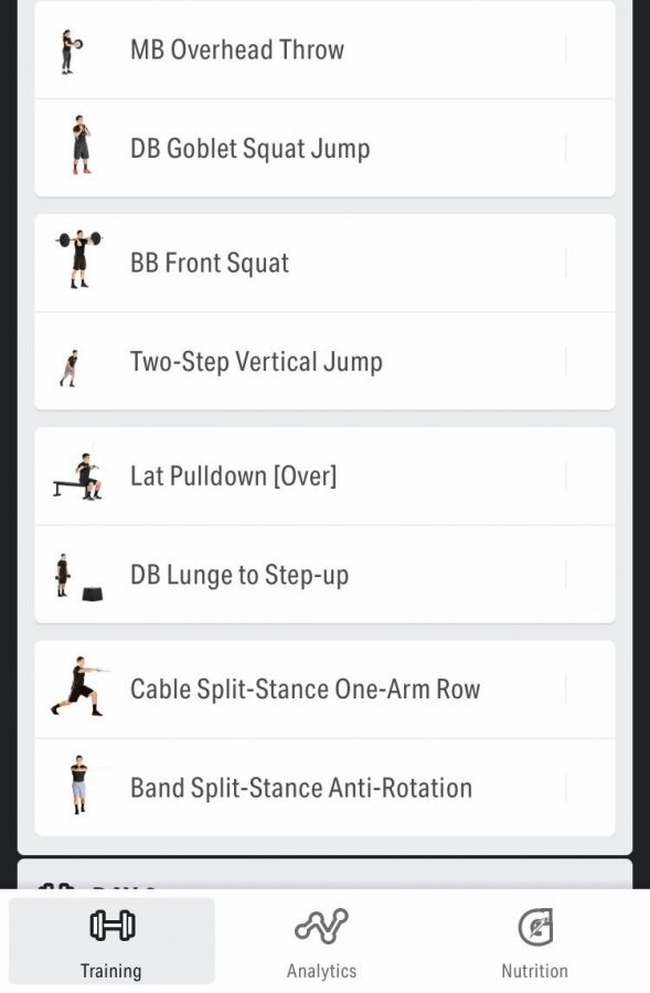 An example of one of the Volt workouts on the iPhone.