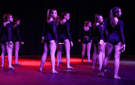 The Hawkettes Travel Team performs a piece entitled