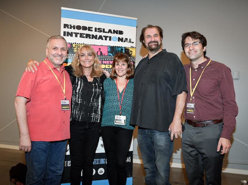 George Marshall (far left) is pictured here with filmmakers and others at Flickers' Rhode Island International Film Festival in 2017.