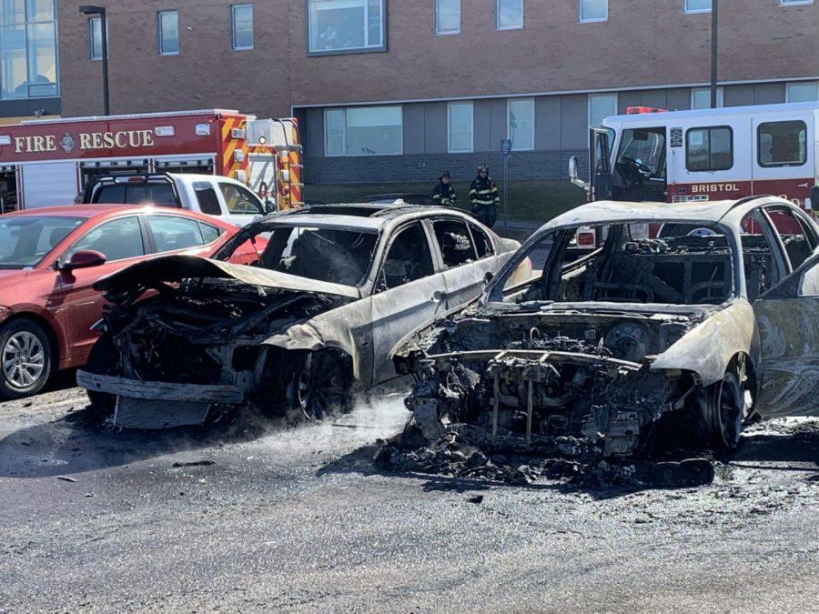 Three vehicles involved in car fire in North Campus parking lot