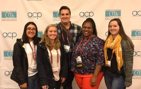 Given his involvement with The Hawks' Herald, Kyle was eligible to attend the College Media Association Conference in Louisville, Kentucky. He was able to add this experience to his resume.