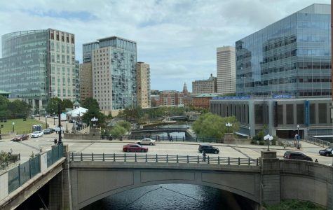 A view of the Providence skyline from Providence Place Mall.