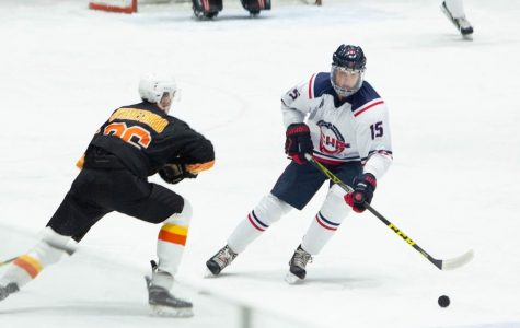 Nick Hart competes in ACHA Hockey Tournament in Barnaul, Russia.