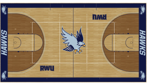 This is a photo of the rendering of the Upper gymnasium floor and what it should look like once the refinish is complete.