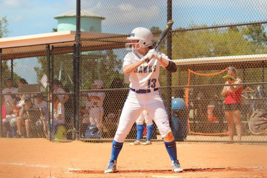 Tara Chatowsky comes up to home plate ready to bat.