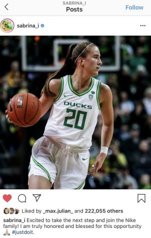 Sabrina Ionescu posted this in her Instagram after she was picked No.1 in the WNBA Draft.