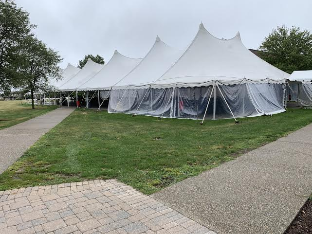 The dining tent outside Commons has been removed as the weather is getting colder. The Law School Bistro will now be open and accepting meal swipes.
