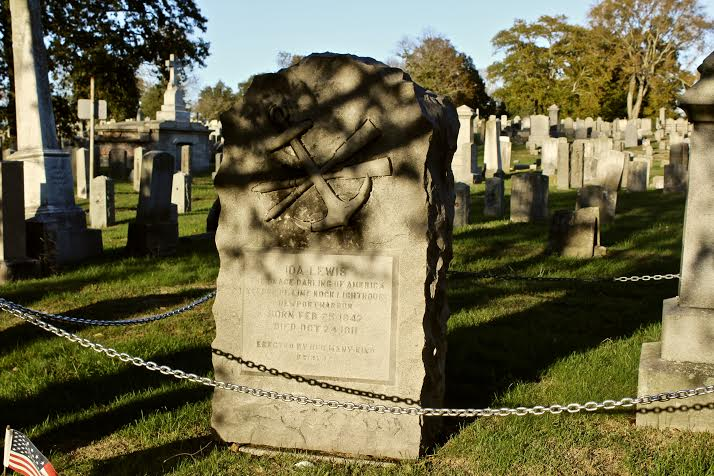 Ida Lewis is buried in Common Burying Ground and Island Cemetery. Her gravestone serves as a monument for her heroic acts as a lighthouse keeper.