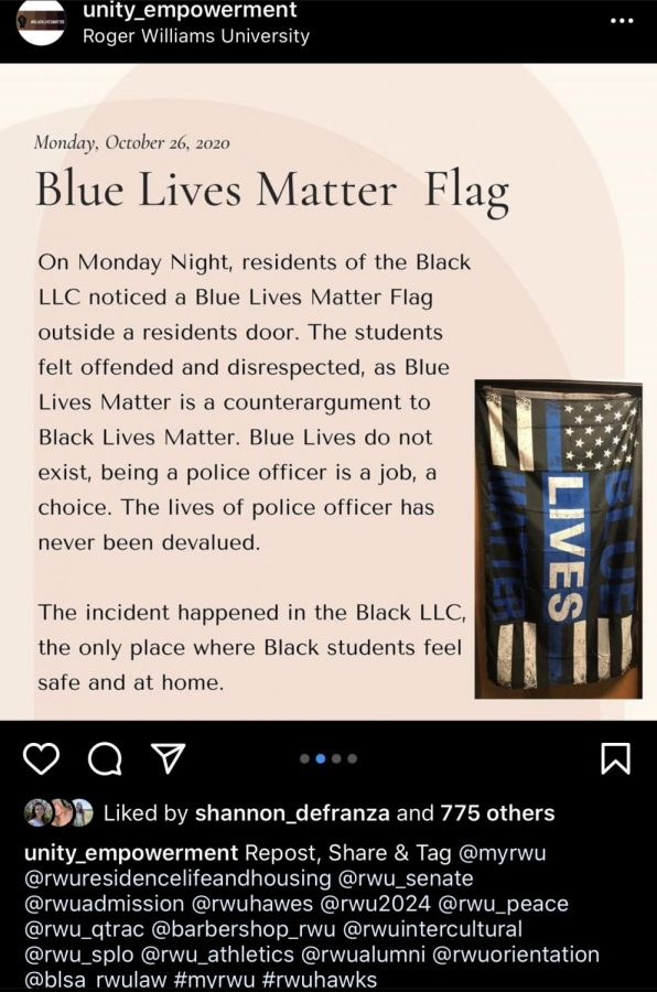 This post on the Instagram account @unity_empowerment detailed the incident that occurred in the Black LLC on Oct. 26, gaining more than 650 comments from students and alumni.
