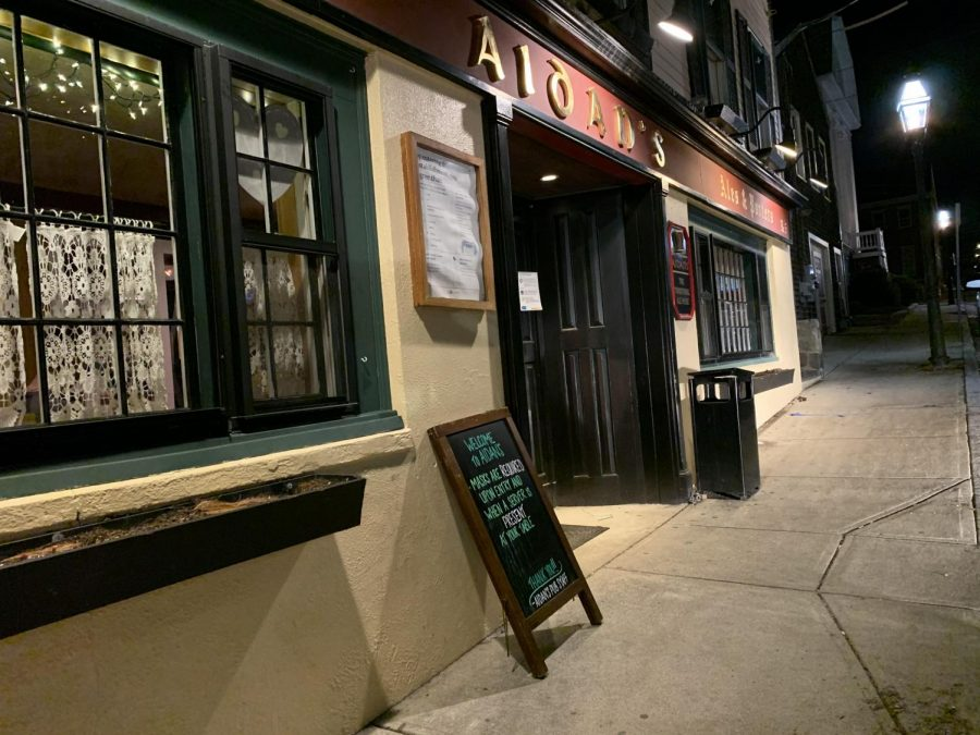Aidan's Pub is a well-known restaurant for RWU students and is located at 5 John St. in Bristol.