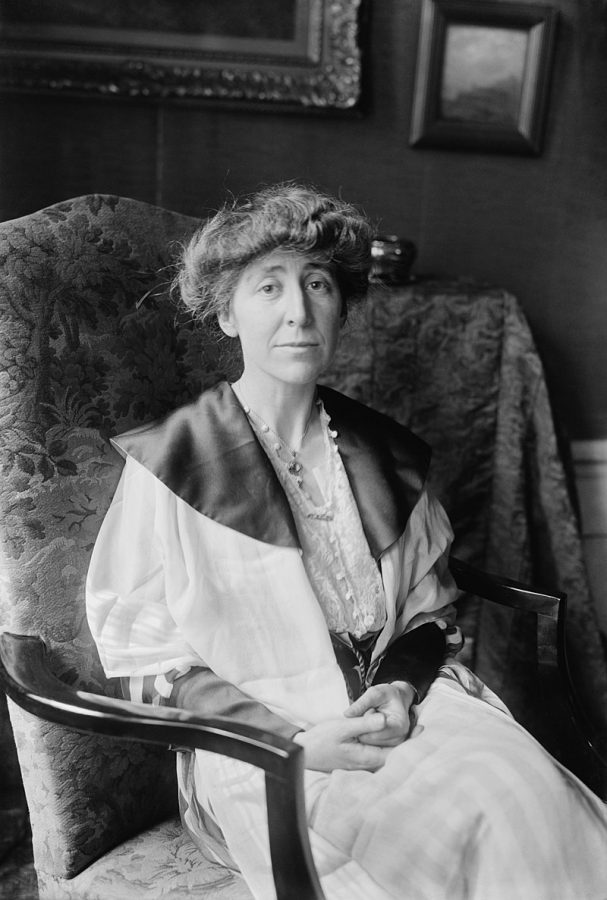 Jeannette Rankin was a fierce advocate for women's suffrage and became the first women to have a seat in U.S. Congress.