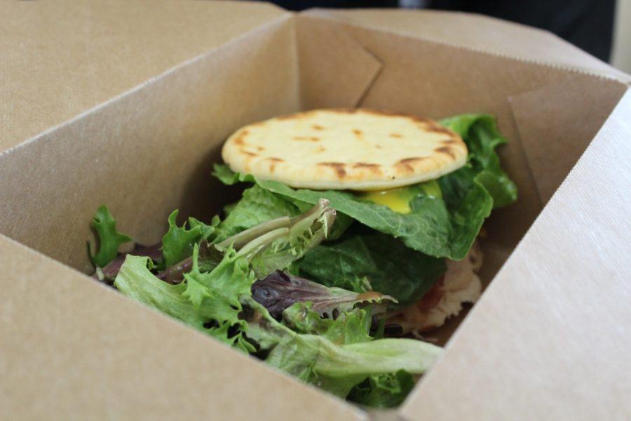 Enjoy Kaffeology Cafe's pressed pavo sandwich.