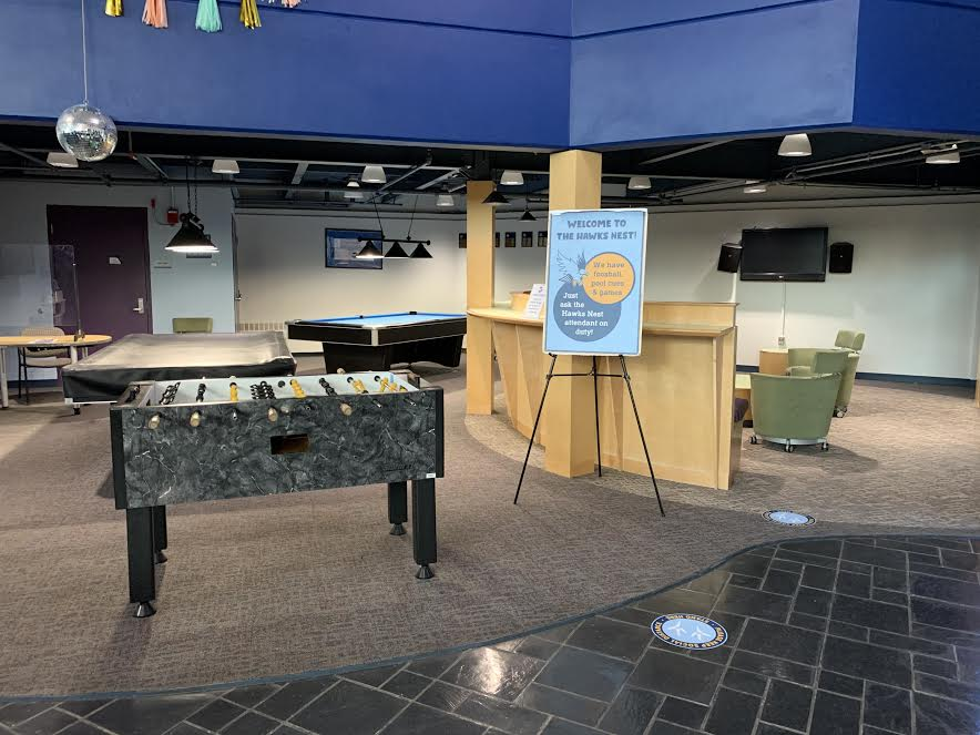 The Hawks Nest, located in the Recreation Center, will be renovated over the summer.