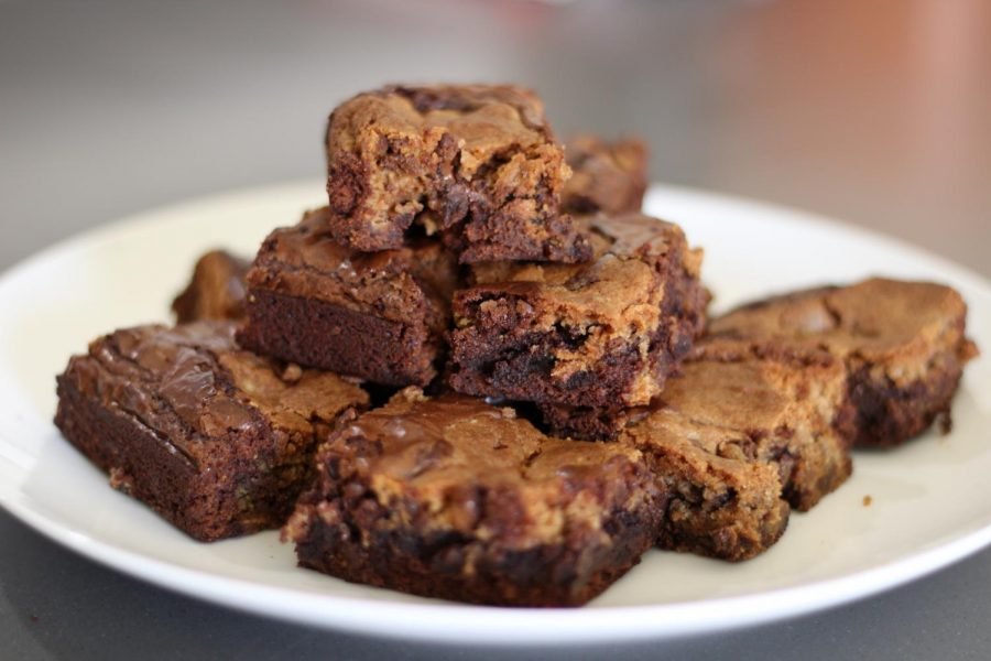 These+cookie+brownies+were+made+using+a+box+mix.+Box+mixes+can+be+a+faster+alternative+to+baking+from+scratch.+