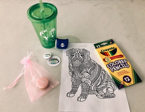 Students were able to take a handful of free MSU merch, as well as participate in activities like making a DIY lip scrub and coloring.