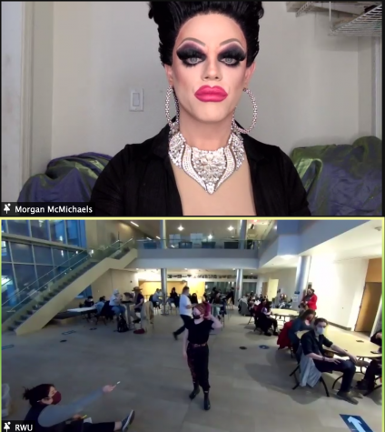Drag queen Morgan McMichaels hosted SAGA