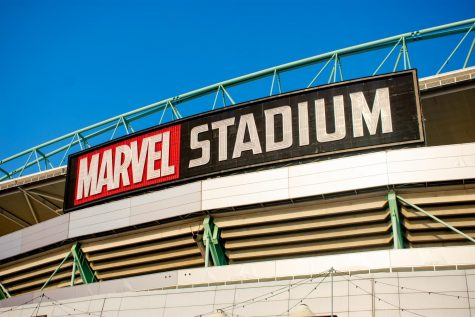 Marvel Stadium in Melborune Australia, an example of how huge the Marvel franchise has become