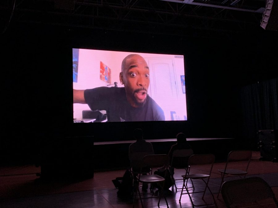 SNL alum Jay Pharoah was the Spring Week 2021 final comedian. His performance was live via Zoom and streamed in the Field House and Commons Tent as well as being available online.
