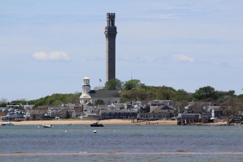 Provincetown sits on the northern point of Cape Cod. The Pilgrim Monument is a historic landmark of the small town.
