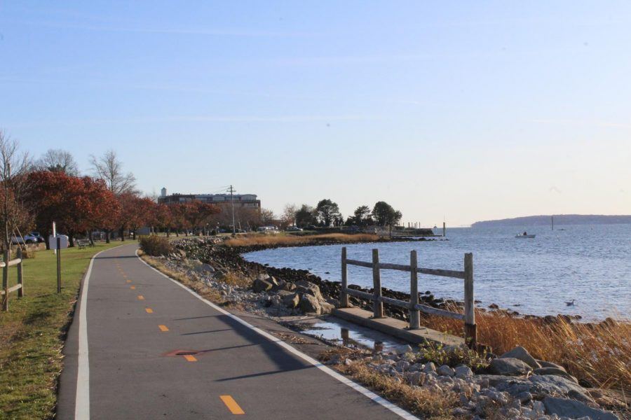 The East Bay Bike Path is a 14.5-mile stretch of paved trail that runs from Providence to Bristol. During spring, the trail offers gorgeous views of the ocean and blooming flowers.