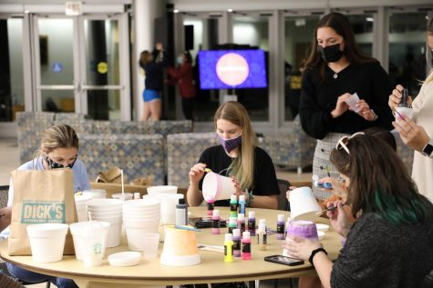 SAGA and MSU hosted the first event of Coming Out Week. The event consisted of a presentation on why Indigenous Peoples Day is important and ended with event goers planting plants that are indigenous to Rhode Island.
