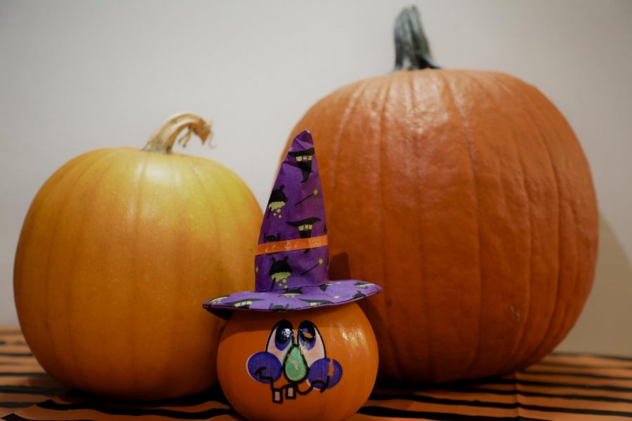 Get into the Halloween spirit by painting or carving pumpkins.