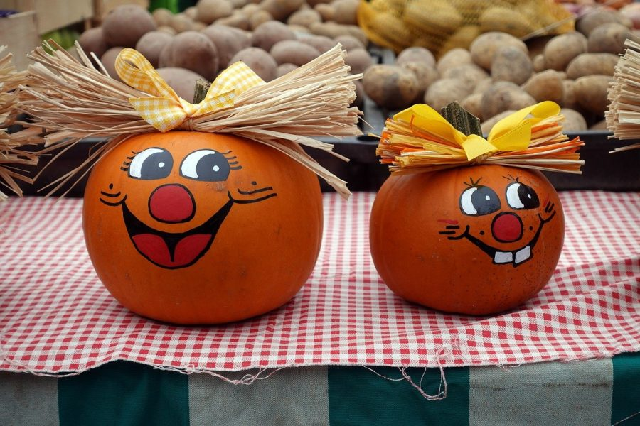 Painting pumpkins with friends can be a fun fall activity.